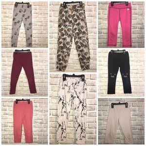 8 pairs of Girls Leggings Size 6x